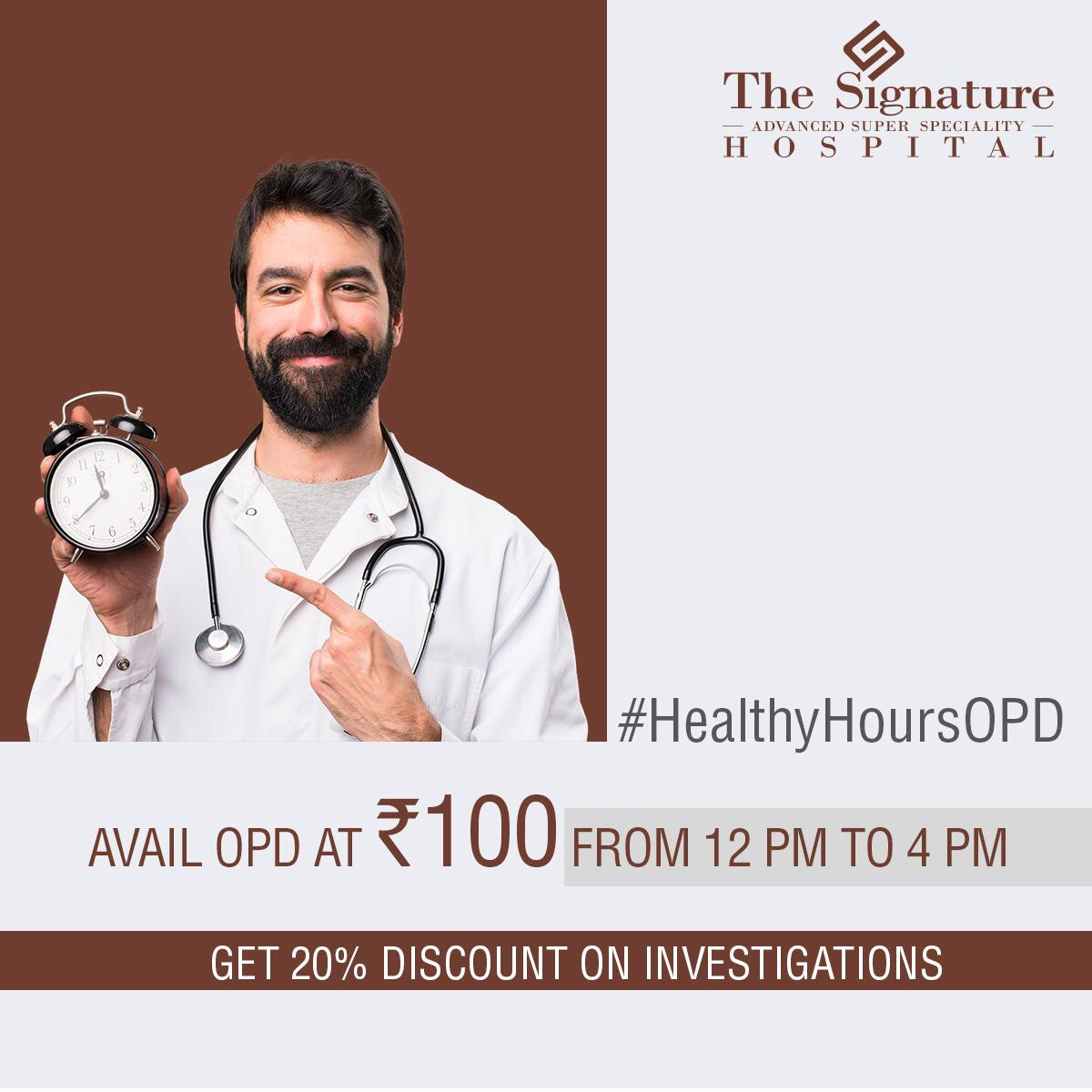 Healthy Hours at Signature hospital!
